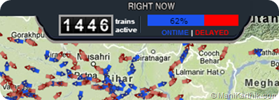 Indian Railways Train Stats - Live! on Google Maps