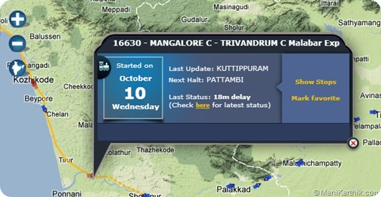 Indian Railways Train Schedule on Google Maps w/ Real Time Stats