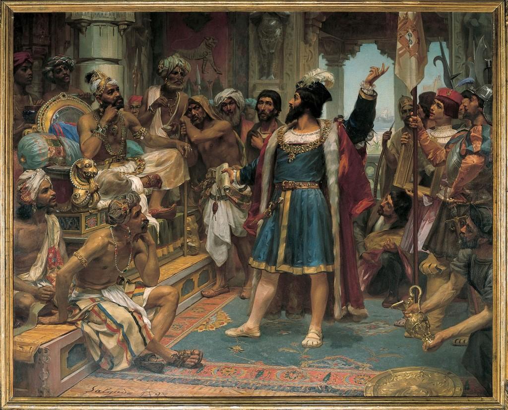 Jose Veloso Salgado's painting 1898 - Vasco da Gama perante o Samorim