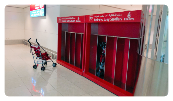 Infant scrollers at Emirates in Dubai Airport