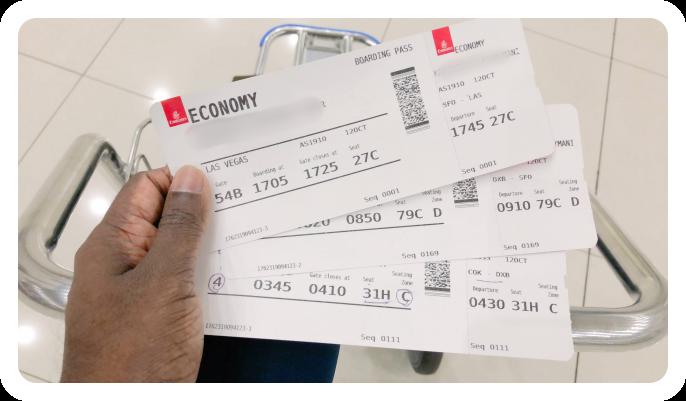 USA_Visit_Visa_Travel Boarding Tickets