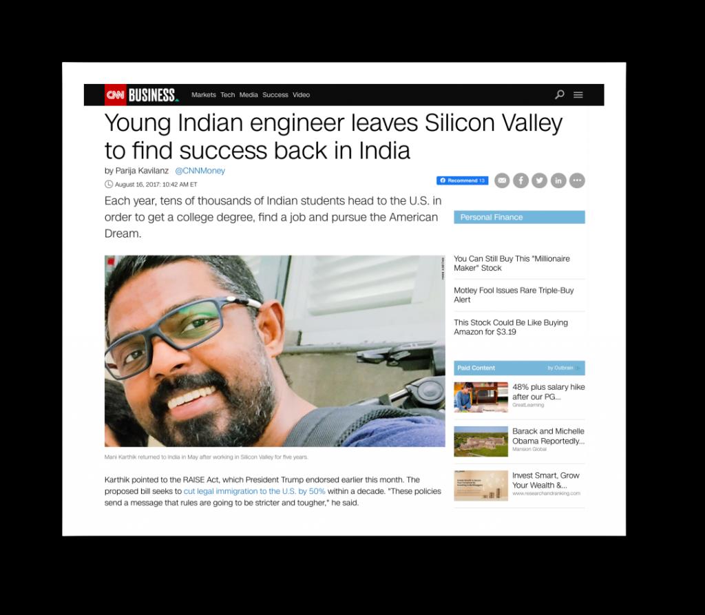 Mani_Karthik_on_CNN